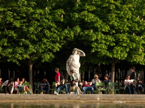 Taking a rest in Luxembourg Gardens under the watchful eyes of time