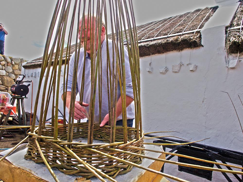 basket weaving, creel making Donegal,