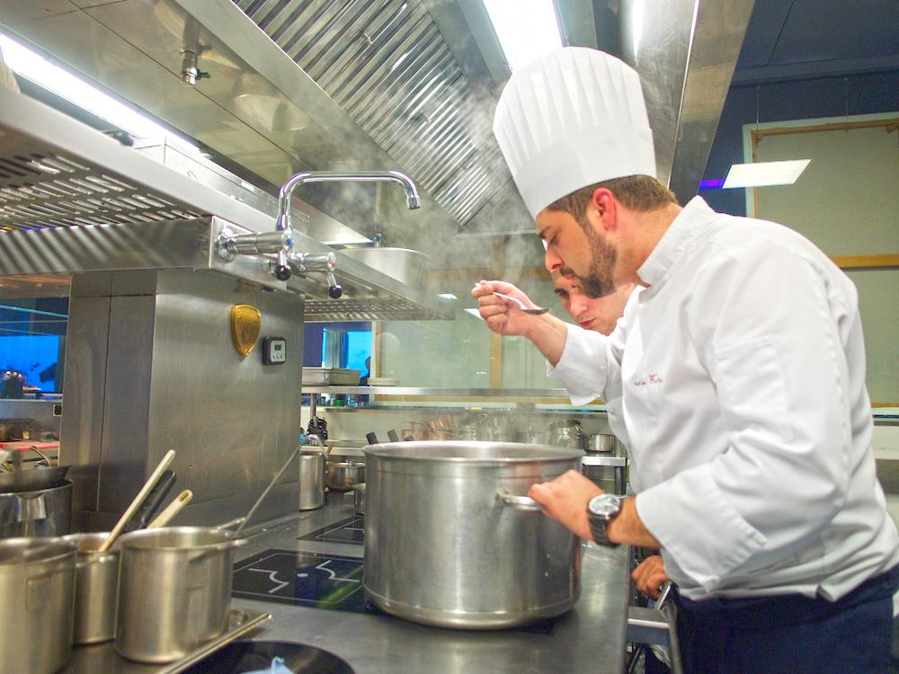 kitchen of restaurant in Portugal